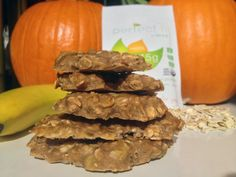 A Healthy 3 Ingredient Cookie! So easy to make and perfect for a morning snack, an afternoon treat or a post workout recovery snack! www.toneitup.com