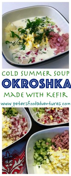 A classic cold summer soup, like Gazpacho only Russian. Incredibly healthy, filled with vegetables and probiotics.