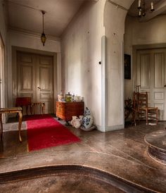 Abandoned mansion built in the mid of the 13th century by a noble Count, who's family nowadays still owns it.
