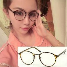 With nose pad design Korean version of the plain mirror / black-rimmed glasses unisex  ,only $3.99 shop at Costwe.com