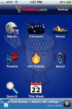 Mobile Ticket App - StubNut.com...