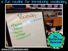 Clutter-Free Classroom: How I Introduce New Vocabulary Words {I use Treasures}