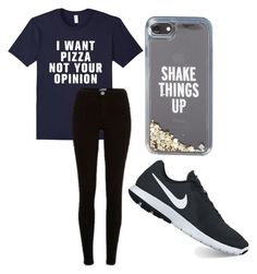 """Living"" by fangirlmendes on Polyvore featuring River Island, NIKE and Kate Spade"
