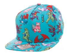 Pokemon Dragon Characters All-Over Pattern Snapback Cap - The Bloke Cave 997886fb92ed9