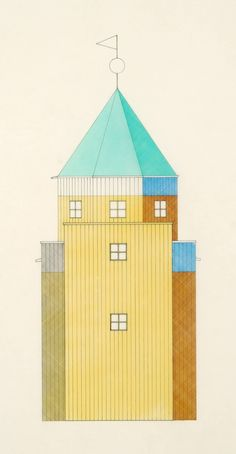 Aldo Rossi drawing