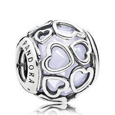 PANDORA Encased in Love, Opalescent White Crystal Charm