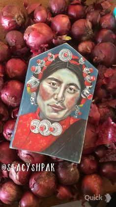 Stacy Shpak Original Tibetan woman portrait painting от Stacyshpak
