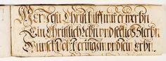 Kalligraphische Schriftvorlagen von Johann Hering zu Kulmbach - Staatsbibliothek Bamberg JH.Msc.Art.65. Datiert 1634. Seite 48.