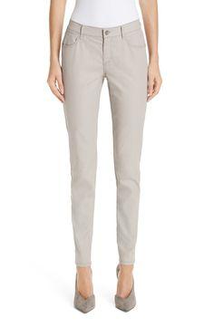 $119.2. LAFAYETTE 148 Jean Mercer Coated Skinny Jeans #lafayette148 #jean #skinnyjean #cotton #clothing Lafayette 148, Cotton Blouses, Slim Legs, Chambray, Midi Skirt, Khaki Pants, Skinny Jeans, Plus Size, Clothes For Women