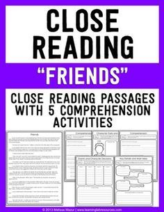 Weekly Close Reading - FREEBIE - Friends