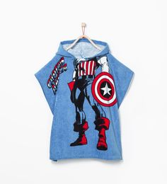 Image 1 of Captain America hooded towel-poncho from Zara