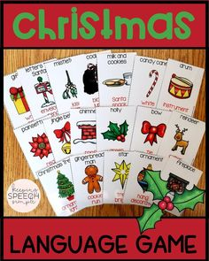 This fun card game is a great way to get students actively engaging in vocabulary lessons while playing a game. Perfect for the holiday season! This activity can be used in small groups, whole classes and as a push-in for speech therapy. This game can be used with elementary students and middle school students. The vocabulary cards can also be used for  labeling, describing and categorizing. These cards are a versatile way to target so many skills. Click here to see more of this resource!