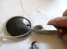 wire wrap woven pendant tutorial