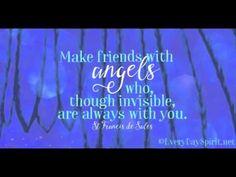 Make friends with angels! #90InspirationalSeconds  www.meditationsimple.com