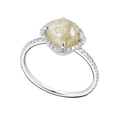3.05ct natural rough diamond engagement ring from the Classic Collection. #luxury #jewels #ditrjewelry
