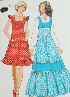 Vintage 1970s Style Dress Sewing Pattern no by PIRANHAREPUBLIC, $6.00...still love the short version