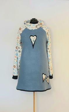 Tunika i ullfilt str. 44 Handmade Dresses, Blouse, Long Sleeve, Sleeves, Tops, Women, Fashion, Tunic, Moda