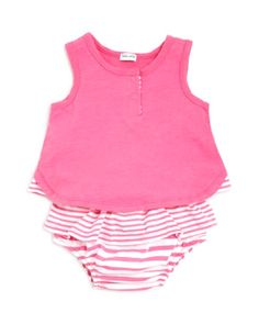 Splendid Infant Girls' Henley Tank & Striped Bloomers Set - Sizes 3-24 Months