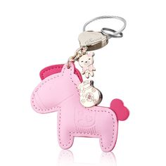 Cute Leather Horse Keychain