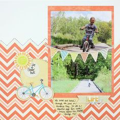 Life Is Good Summer Layout from Creative Memories  http://www.creativememories.com