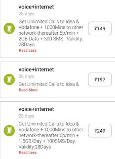 New Recharge Plans Released For Idea Vodafone And Airtel How To Plan Extra Money Online Recharge