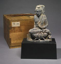 A SMALL GANDHARAN SCHIST SEATED BUDDHA<br>2ND / 3RD CENTURY | Lot | Sotheby's