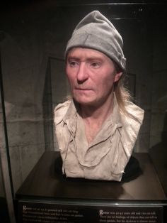 "From a Swedish ship: the skeletal remains of one of the sailors on the Vasa - scientists named him ""Gustav"" - was found lying near some personal artifacts and clothing. This is a reconstruction of his face."