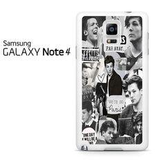 Louis Tomlinson Black White Collage Samsung Galaxy Note 4 Case