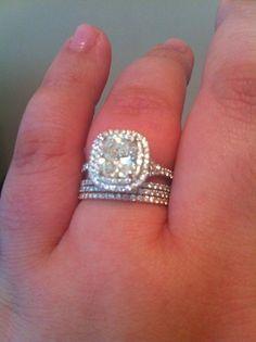 Tiffany Soleste #engagementring #weddingband