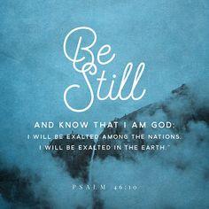 De Wayne Breen created a verse image for <b>Psalms 46:10 NLT</b> | The Bible App | Bible.com