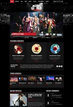 MusicWorld Music Band WordPress Theme