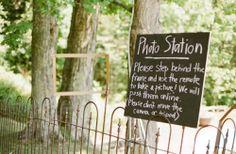 Photo station wedding