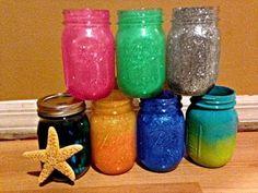 DIY Glitter Mason Jar Brush Holder - YouTube