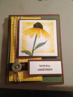 Found the idea on Pinterest. Stampin Up Inspired by Nature.