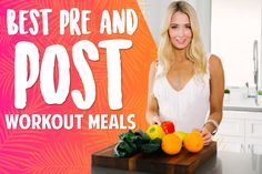 <thrive_headline click Pre and Post Workout Meals</thrive_headline> Post Workout Carbs, Post Workout Nutrition, Post Workout Snacks, Workout Meals, Fitness Nutrition, Health And Nutrition, Fun Workouts, Health And Wellness, Danette May