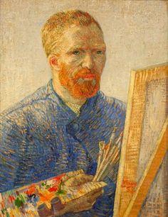 van gogh- Autorretrato como artista, 1888