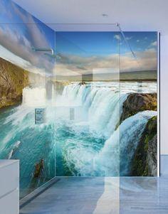 serious-waterfalls-Shower-Panels Printed Kitchen Splashbacks from https://splashacrylic.com