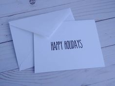 Christmas Greeting Cards, Christmas Greetings, Holiday Cards, Happy Holidays, Christmas Holidays, Skinny Fonts, White Envelopes, My Etsy Shop, Pudding