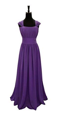 New Design Straps Ruched Long Chiffon Bridesmaid Evening Wedding Party Dress UK stock size 6 - 24 (6, Cadbury Purple) Angel Star http://www.amazon.co.uk/dp/B00PIE9CIE/ref=cm_sw_r_pi_dp_EcE7ub0MSDXHT -£46