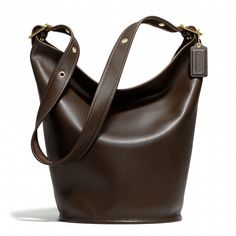 Coach :: COACH CLASSIC DUFFLE IN LEATHER ~ Brass/Mahogany