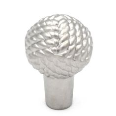 "Pearl Nickel (Silver) 1"" Cabinet Knob Pulls P7532-PN from Belwith Keeler Hickory Hardware's West Indies Collection Add style to your cabinets and furnitureWest Indies, Pearl Nickel finishWoven Knot DesignDurable Zinc constructionDiameter: 1""; 3/8"""