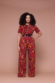 Amour+African+Print+Wide+leg+Jumpsuit