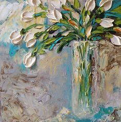 White Tulips by Jan Ironside