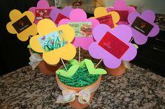 'Flower Gift Card' Spring pots for Scarlett's teachers at school!