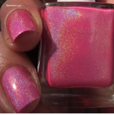 Anonymous Lacquer - Electric Cotton Candy - Hella Holo Customs Polish ( HHC ) - April 2015
