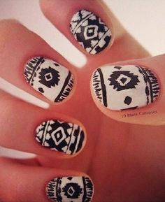 I love this tribal nails