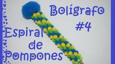 Boligrafo / pluma decorado #4 - Espiral de pompones - Tutorial - DIY