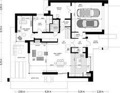 Projekt domu Willa Floryda 3 235,54 m2 - koszt budowy - EXTRADOM Modern Villa Design, Diy Home Decor, Floor Plans, How To Plan, House, Inspiration, Log Projects, Homes, Biblical Inspiration