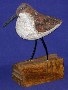 """GUNNERS PEEP-SMALL~  - BASE 3""""X6""""  - WIRE LEGS  - PEEP MEASURES 3""""X5""""  - STANDS 9"""" HIGH  - CARVED FROM WOOD  $12.95"""