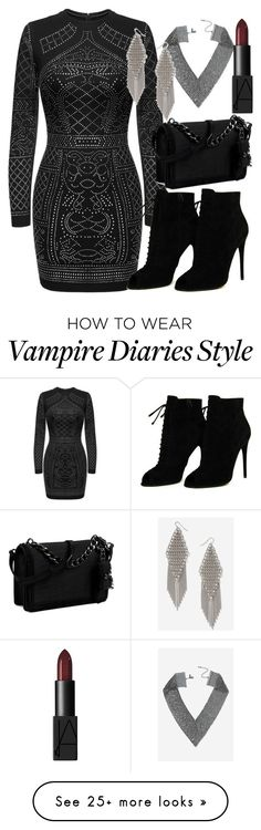 """Klaus Inspired Party Outfit - The Vampire Diaries / The Originals"" by fangsandfashion on Polyvore featuring Topshop, Tom Ford and Nine West"